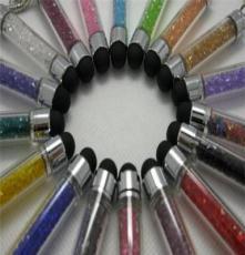 厂家批发 智能手机电容笔 防尘塞水晶电容笔 触屏水钻电容笔 通用