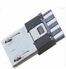 Micro USB 5P公頭前五后四短體超薄3.0