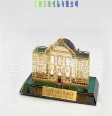 JY63 阿拉莫 The AlAMO 水晶摆件 水晶钟座 建筑纪念品