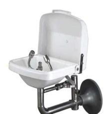 防尘挂壁式洗眼器 304不锈钢加ABS耐腐无毒聚乙烯 鹰兽牌6640-A