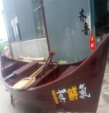 景觀木船生產廠家 裝飾木船價格