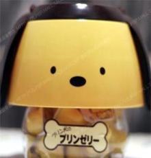 台湾进口食品 盛香珍鸡蛋布丁狗桶装 休闲食品 果冻布丁630g 批发