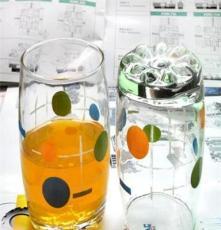 厂家大量啤酒杯 大肚杯 玻璃杯 带手柄 印花水杯