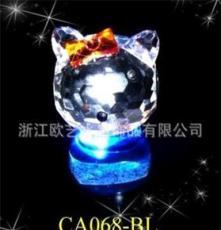 水晶小動物 水晶批發 水晶hello kitty(一對) 專業生產批發(