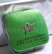 RIO利澳 绿茶薄荷糖(压片糖果)15g 瑞士瑞怡乐正品