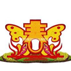 四川綠雕新春主題 創意五色草雕塑大型工藝品定制