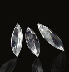 透明水晶球定制樹葉形亞克力珠DIY飾品家居手工簾配件加工廠家