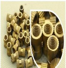 智伸廠直銷 嵌入式 美制牙5.5*4-40*6 滾直花 注塑銅螺母