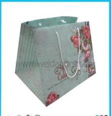 外贸出口食品手提纸袋定做 精美礼袋 方形底 精美包装袋
