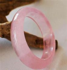 緣美珠寶 專柜正品 天然冰種粉晶手鐲 顏色誘人 粉嫩可愛 旺桃花