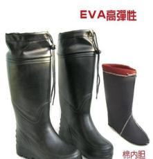 厂家直销水鞋EVA一次成型高筒男款雨鞋带棉内胆可拆卸包邮雨靴
