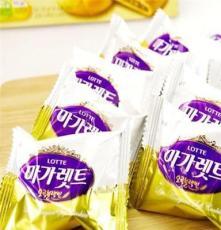 韓國進口 樂天牌馬加力五谷餅干228g 餅干糕點軟餅 三層夾心