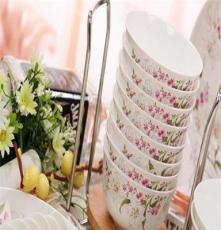 [萱雅]景德镇陶瓷餐具套装碗批发高档骨瓷碗餐具套装 陶瓷碗盘碟