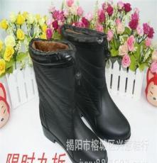新款雨靴套韩版时尚仿皮女士防滑保暖PVC雨鞋批发