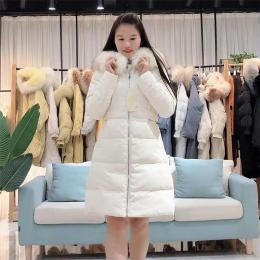 奢华大毛领羽绒服女韩版品牌折扣女装