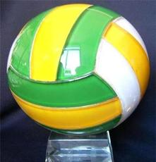 水晶玻璃球 排球水晶球 水晶工艺品 浦江水晶厂家直销