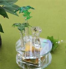 供应彩色水晶情侣/水晶音乐盒/水晶八音盒 结婚送礼