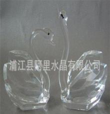 供应晶韵水晶工艺品 水晶动物 情侣天鹅 男女朋友礼物