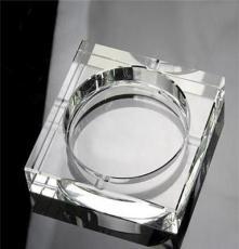廠家定制方形經典水晶煙灰缸 水晶工藝品擺件 10cm水晶煙缸批發