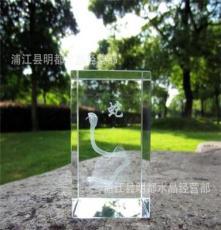 廠家直銷水晶內雕 浪漫創意 旋轉發光底座 各種規格可定制