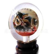 備貨會 供應定做 水晶內畫球(熊貓圖)水晶工藝品 禮品
