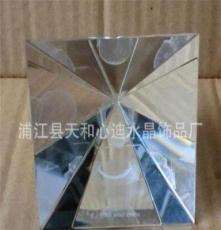 水晶金字塔 水晶内雕 水晶摆设工艺品