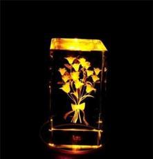 水晶音乐盒创意内雕玫瑰花八音盒 男女生日礼物 情人节结婚小礼物