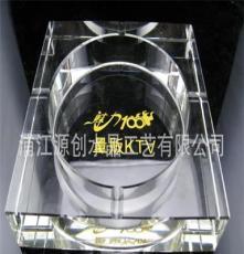 現貨供應大號八角水晶煙灰缸 水晶酒店KTV用品 可定制logo