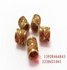 东莞手机夹子铜螺母 注塑滚花铜螺母M2345 6车床生产厂家