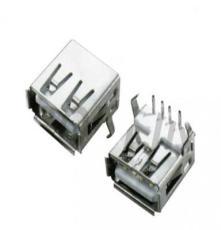 厂家供应USB A/F 90度弯脚加后盖
