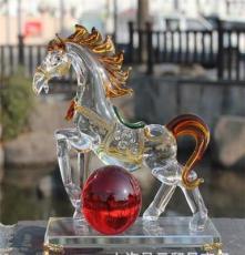 精品水晶馬工藝品生肖擺件 高檔商務禮品 廠家定制 馬年創意禮品