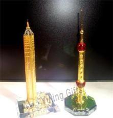 JY86 上海科技馆 水晶模型 水晶摆件 水晶钟座 水晶楼模 水晶礼品