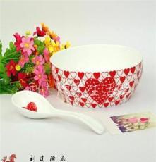 景德镇高档爱心骨质瓷陶瓷餐具套装 16头餐具件 乔迁结婚情侣礼物