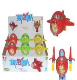 (工廠直銷)供應0324 真伙伴盒裝變形飛機人玩具糖果