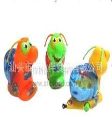 (工廠直銷)供應0672真伙伴盒裝拉線雪花蝸牛糖果玩具