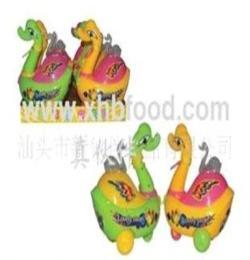(廠家直銷)供應0048真伙伴盒裝拉線鴨子玩具糖果