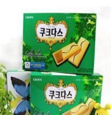 韓國進口食品批發 可拉奧咖啡夾心蛋卷餅干 216g*12盒/箱