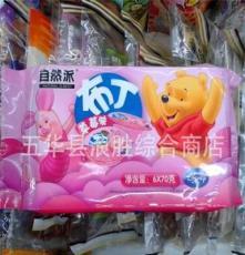 批發休閑食品自然派卡通維尼熊含乳果凍草莓布丁420g 一箱12包