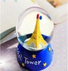 日式zakka创意彩色埃菲尔铁塔迷你树脂摆件 水晶球SZ2013078