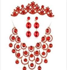 新娘饰品 项链耳环 水晶饰品 合金饰品生产加工