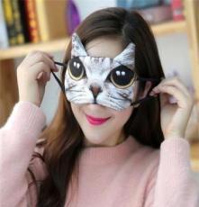 2016新款超萌卡通眼罩 爆款卡通3D汪星人喵星人眼罩