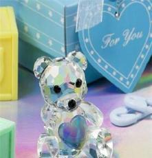粉色小熊水晶 廠家直銷 婚禮回禮 水晶小禮品