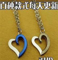 4.5两条韩版时尚首饰品心形吊坠 情侣项链礼物 一对价