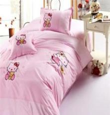 荐 粉 四件套 全棉斜纹绣花 适用1.2-1.5米床 儿童卡通床品