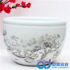 粉彩工艺瓷大缸 景德镇陶瓷鱼缸