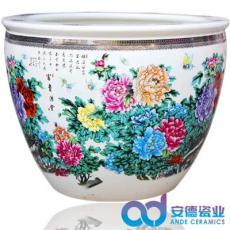 景德镇陶瓷鱼缸 色釉陶瓷大缸