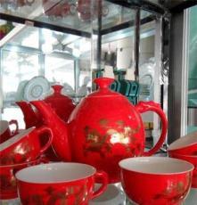 內蒙古茶具生產廠家 紅瓷茶具 加工銷售茶具 功夫茶具 價格