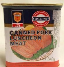 廠家大量批發罐頭食品 正宗梅林牌午餐肉罐頭 營養豐富 340G