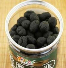 正宗臺灣進口零食 海龍王竹炭花生 黑花生豆250g 養顏排毒 罐裝