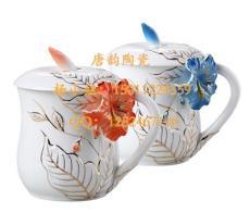 办公礼品杯,咖啡杯定做,陶瓷杯子定做,青花瓷杯子,广告杯定做